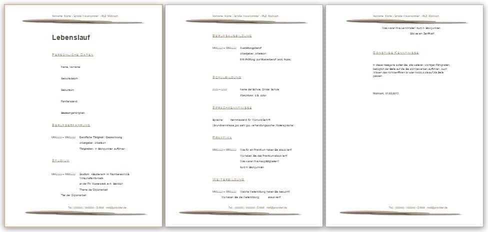 Lebenslauf Muster im Design Stein kostenlos downloaden