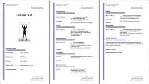 Gratis Lebenslauf Muster, Vorlage, Beispiel kostenlos downloaden