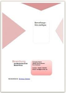 Deckblatt Bewerbung Vorlage in rotem Design