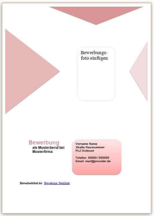 Deckblatt Vorlage in rotem Design