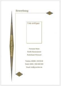 Deckblatt Bewerbung Muster, Vorlage downloaden