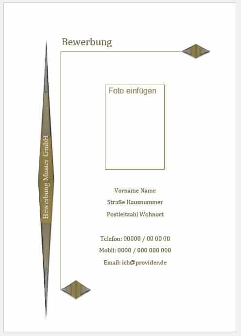 Deckblatt Muster, Vorlage downloaden