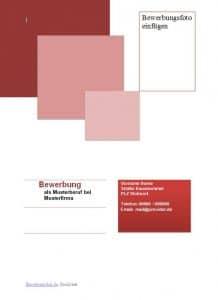 Deckblatt Muster im Design rot und Quadratenin rot