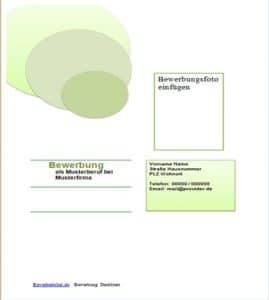 Deckblatt Beispiel, Vorlage in grün mit runden grünen Kreisen