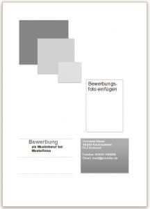 Deckblatt Beispiel und Vorlage in grau mit Quadraten