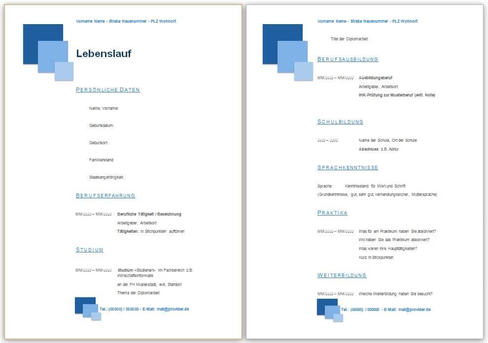 Bewerbungsvorlagen, Bewerbung Muster, Vorlage, Beispiel ...