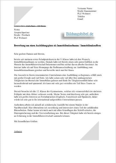 Immobilienkaufmann Kauffrau Berufsbild Bewerbung 12