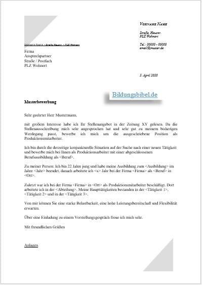 Bewerbungsschreiben Vorlage Schweiz Word