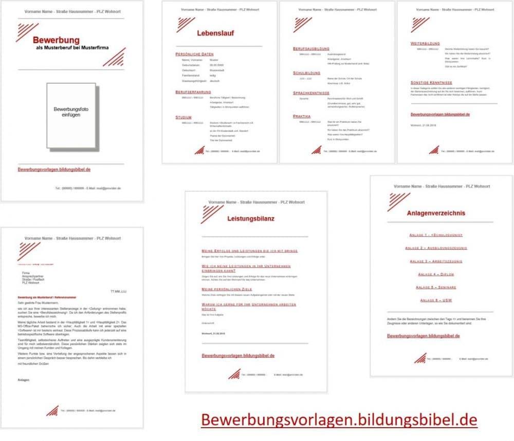 Gratis Bewerbungsvorlagen, Muster, Vorlage, Beispiel kostenlos downloaden