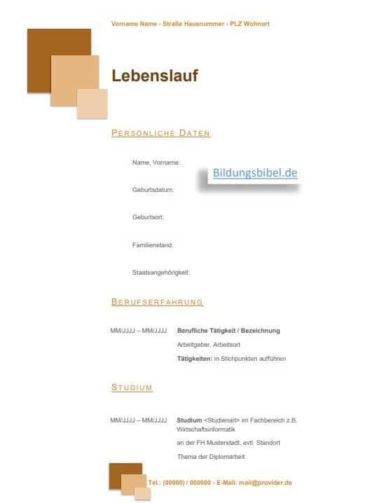 Die Vorlage in der Farbe braun, mit Quadraten zum Download kostenlos