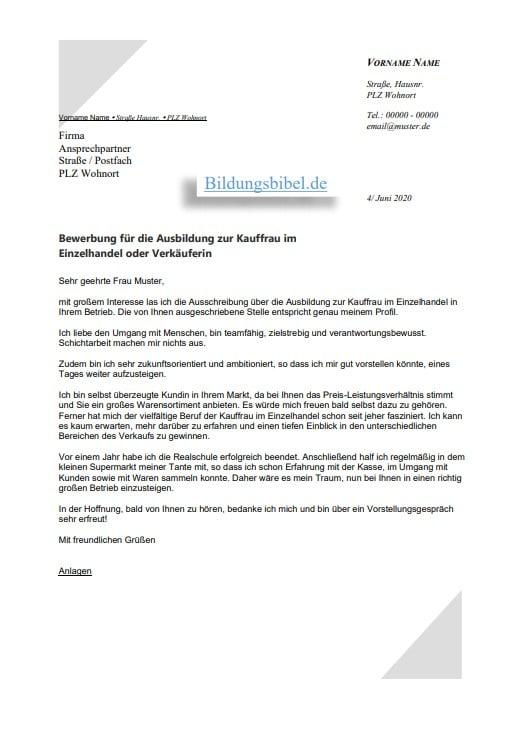 Bewerbung Kaufmann Im Einzelhandel 2021 Inkl 3