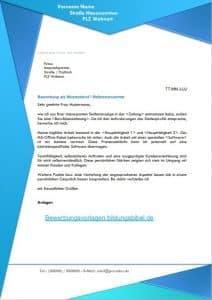 Bewerbungsschreiben Vorlage, Bewerbungsvorlagen
