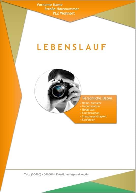 Lebenslauf Muster im Design Berlin